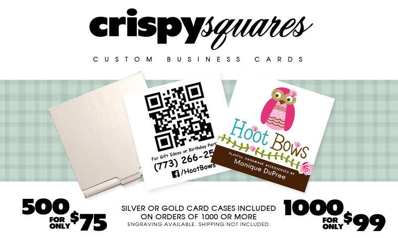 Crispy Squares | Square Custom Business Cards | Graphic Design Print | Chicago, IL, USA