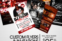 Custom Flyers and Invitations for $25