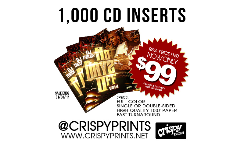 CD Inserts at CrispyPrints.net | Chicago, IL USA