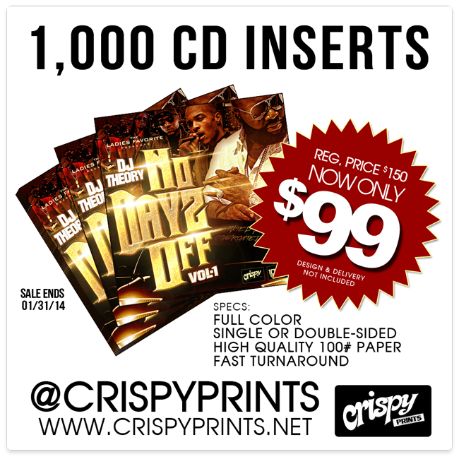 1000 CD Inserts only $99 - CrispyPrints.net