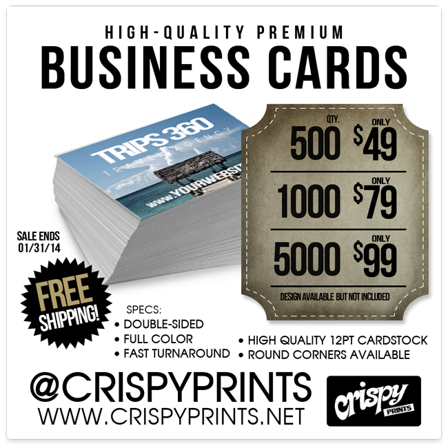High-quality Premium Business Cards at CrispyPrints.net