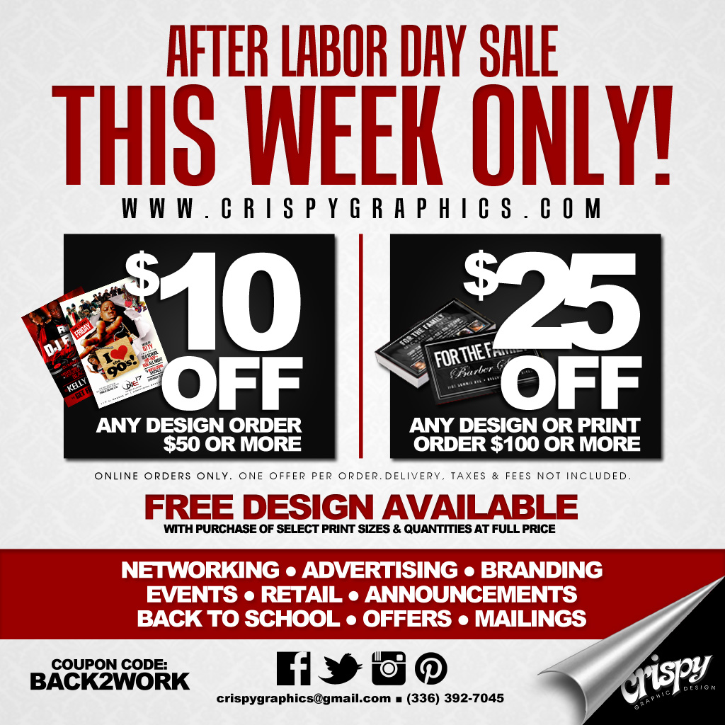 After Labor Day Sale | Crispy Graphic Design